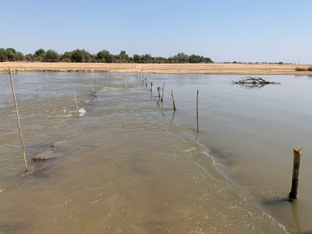 The river Luangwa was low enough to drive through and cross